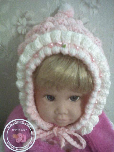 Так же, как и пинетки, обожаю вязать шапочки и чепчики для малюток!