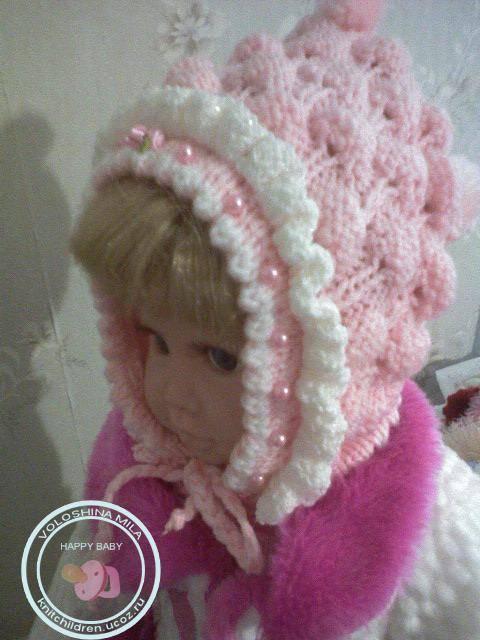 Вязаные детские шапочки.  5. Определив фасон шапочки, снимите мерки.