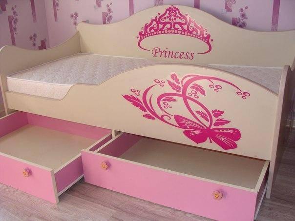 Сделать кровать для девочки своими руками